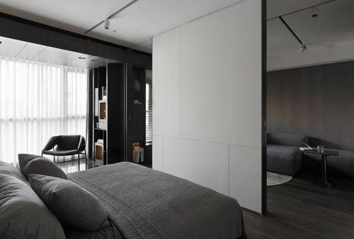 凝练都市现代灰色卧室装饰设计图片