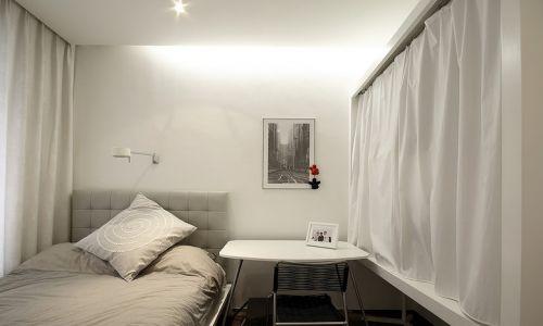 清爽白色简约卧室装饰案例