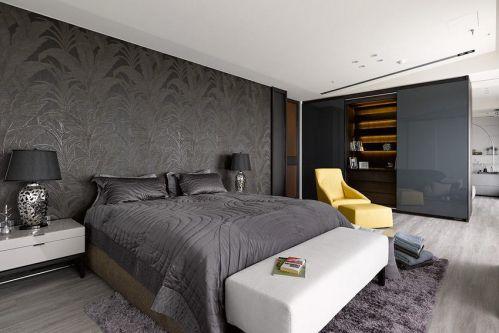 灰色优雅时尚现代风格卧室装修
