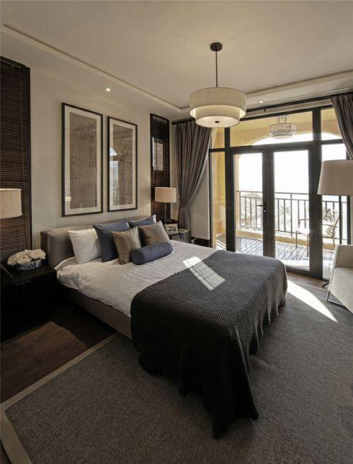 现代风格灰色卧室装修图