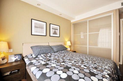 米色清新现代风格卧室图片欣赏