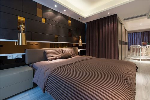 灰色极致简约风格卧室装修设计