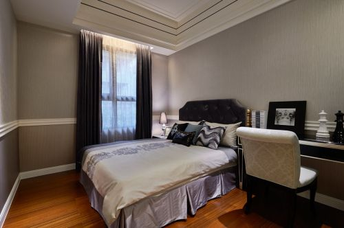 2016灰色现代风格卧室设计图