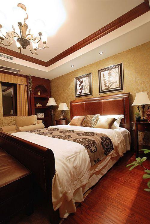 红色温馨现代风格卧室效果图欣赏