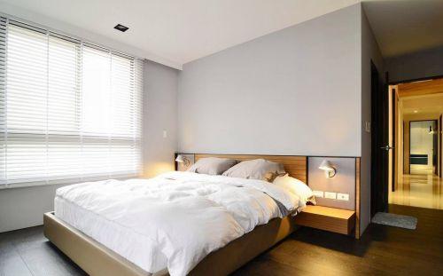 纯白淡雅现代卧室装潢效果图