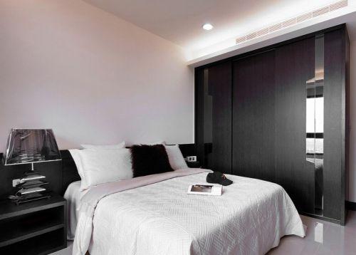 现代风格质感黑色卧室图片赏析
