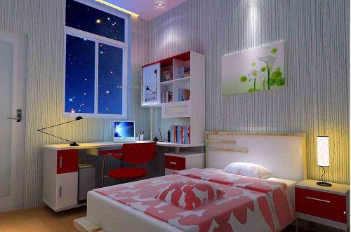 现代简洁舒适卧室装潢