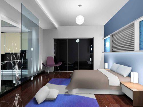 现代简洁卧室装修案例