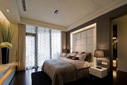 灰色质感现代风格卧室美图欣赏