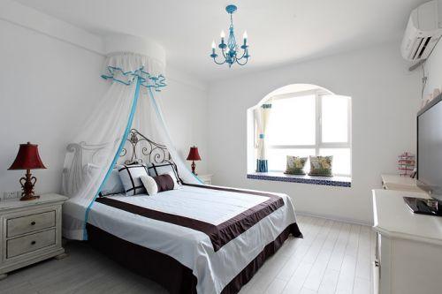 地中海风格温馨浪漫卧室美图欣赏