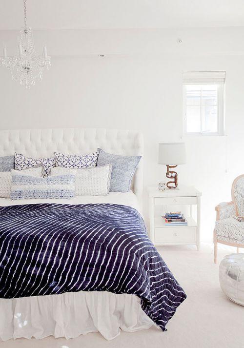 唯美蓝色夏日地中海卧室设计