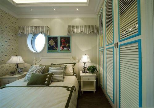 蓝色地中海卧室装修布置