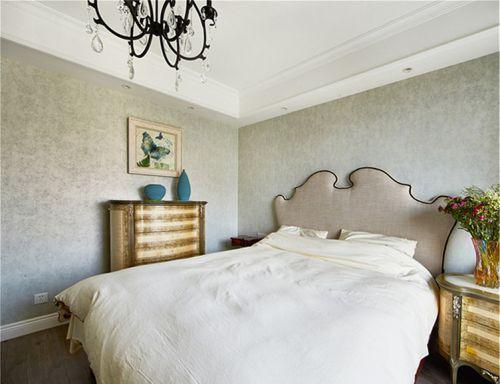 地中海风格清新灰色卧室美图欣赏