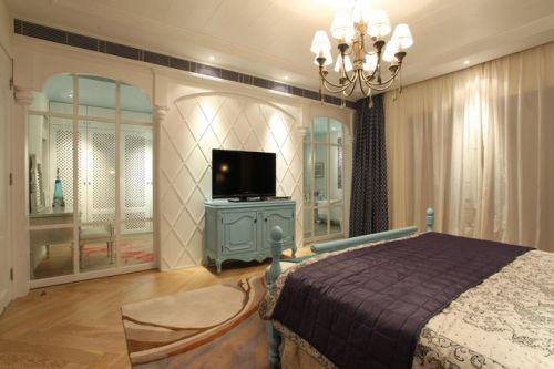 2016时尚地中海风格米色卧室装潢设计图