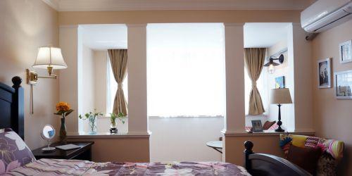 浪漫希腊风地中海白色卧室效果图设计