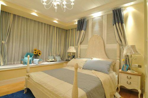 黄色地中海风格卧室装饰图欣赏