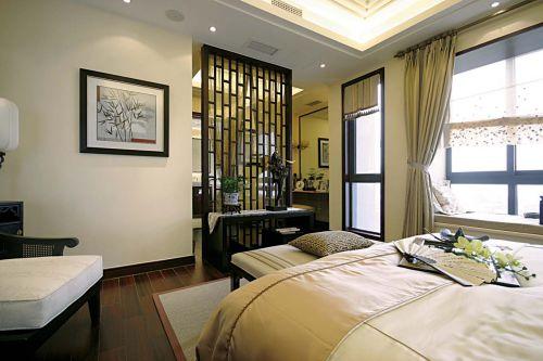 中式素净装修卧室设计图片