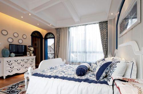 地中海米色清新卧室设计赏析