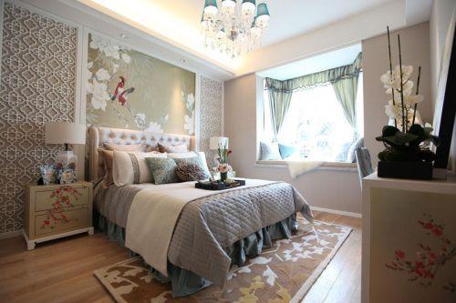 淡雅中式风格卧室装修效果图片