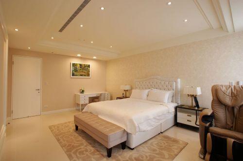 浪漫舒适简欧风格米色卧室装饰设计图片