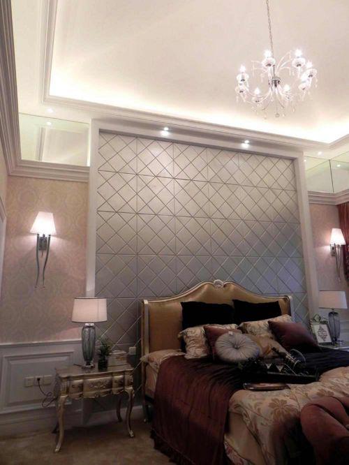 银灰时尚精美简欧风格卧室装修美图