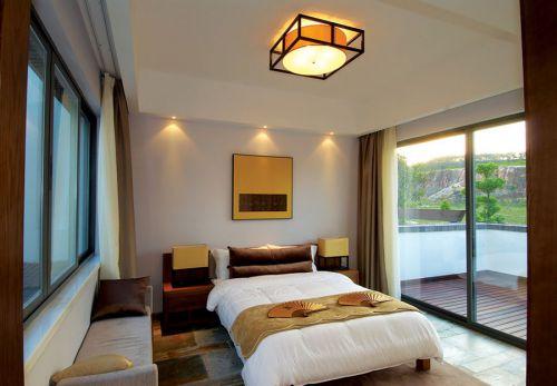 东南亚风格素雅白色卧室效果图欣赏