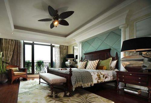 东南亚风格卧室吊顶美图欣赏