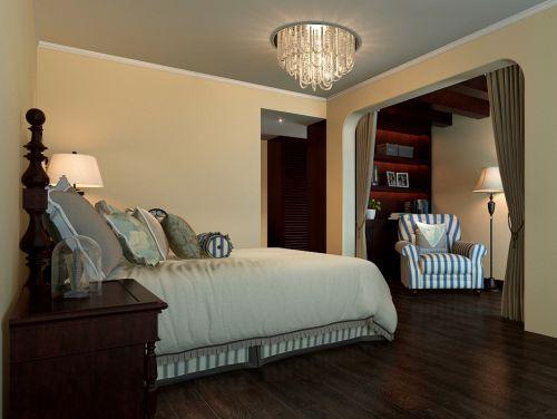 黄色温馨东南亚风格卧室装修设计