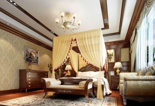 东南亚风格温馨米色卧室装修美图