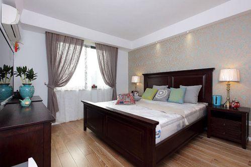 米色素雅东南亚风格卧室效果图设计