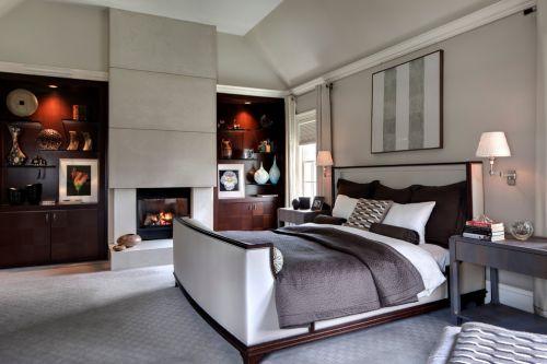米色雅致东南亚风格卧室装饰设计图片