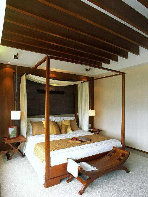东南亚风格素雅黄色卧室装修