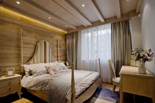 东南亚风格清新米色卧室装修设计
