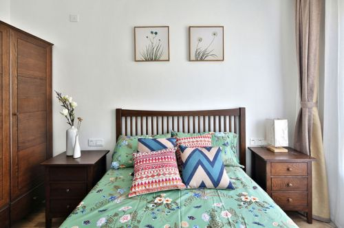 东南亚风格白色清新卧室装饰案例