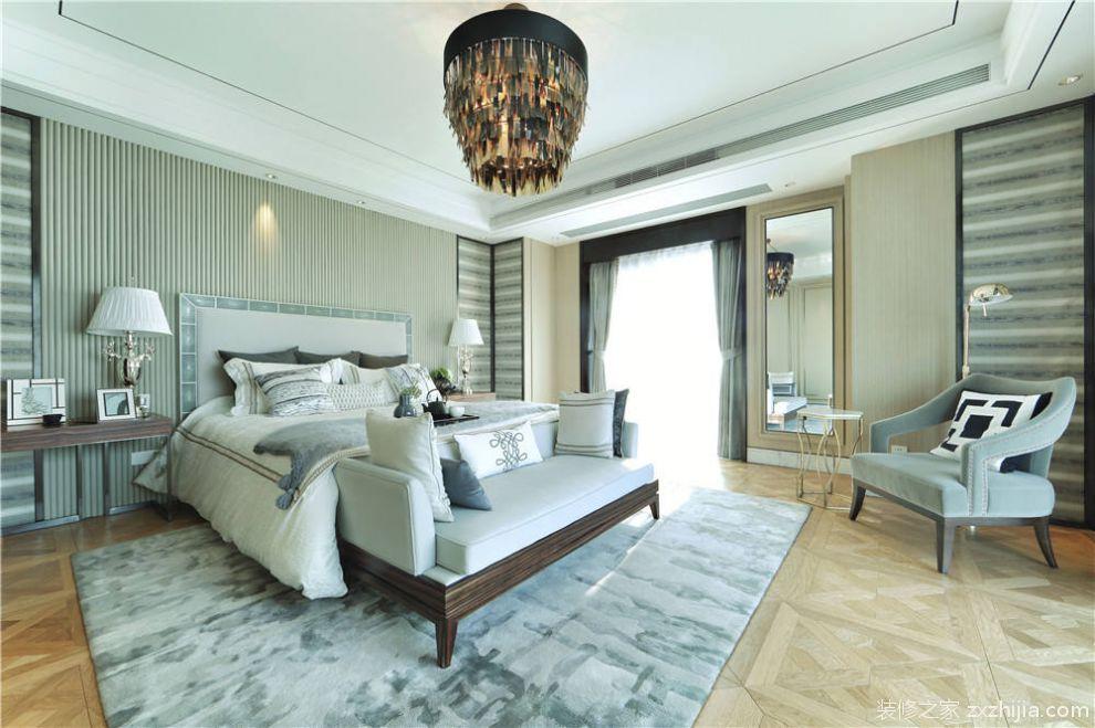 复古精致华丽欧式风格白色卧室效果图设计