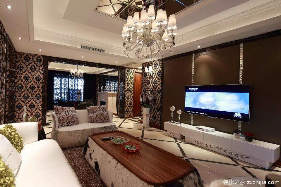 简约时尚欧式风格客厅装饰效果图