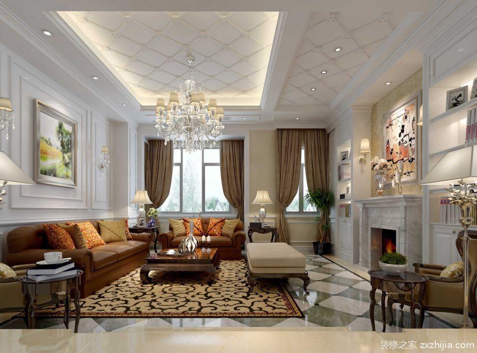 美式客厅装修沙发背景墙效果图