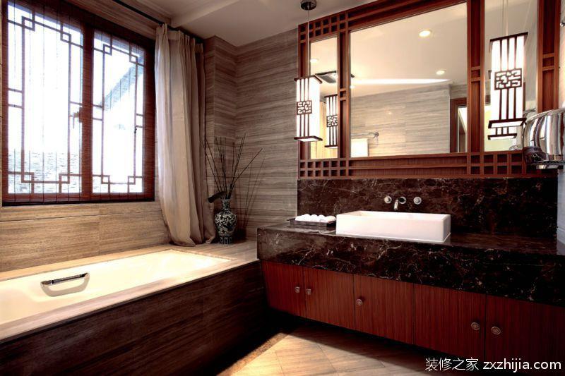 中式风格卫生间图片