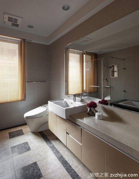 现代卫生间浴室装修效果图