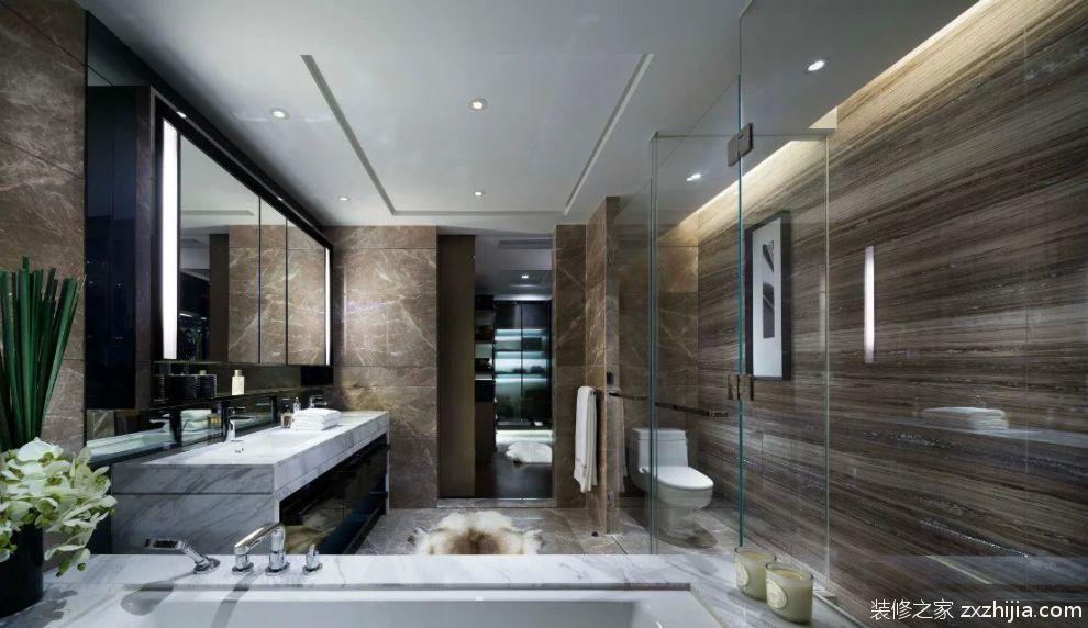 卫生间瓷砖装修浴室镜效果图欣赏