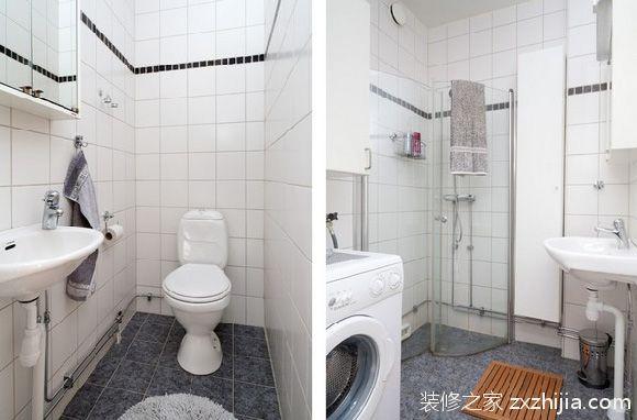 美式经典三居室装修卫生间图片