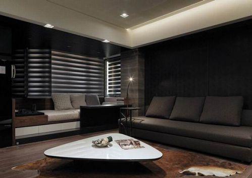 黑白现代风格客厅装饰设计