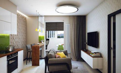 47平舒适小户型客厅设计