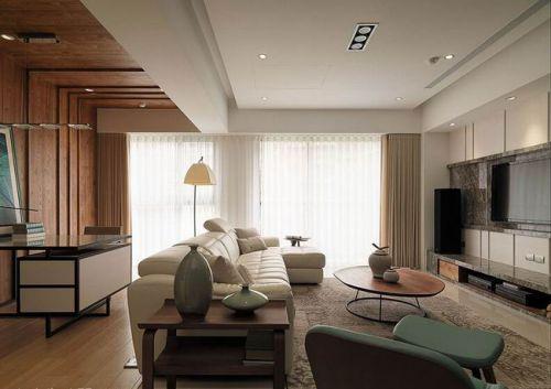 现代二居客厅飘窗美图