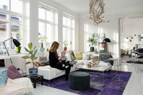 现代阳光公寓客厅效果图