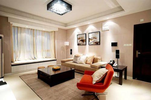 摩登现代三居客厅吊顶装潢设计