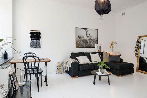 素雅现代公寓白色客厅图片