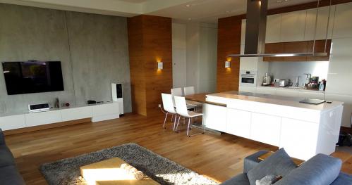 现代风格顶层公寓客厅图片