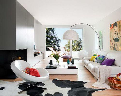 小清新现代风格白色客厅