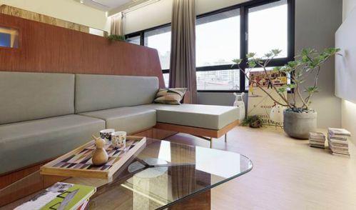 33平现代风格客厅效果图